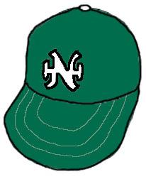 南海ホークスの野球帽。